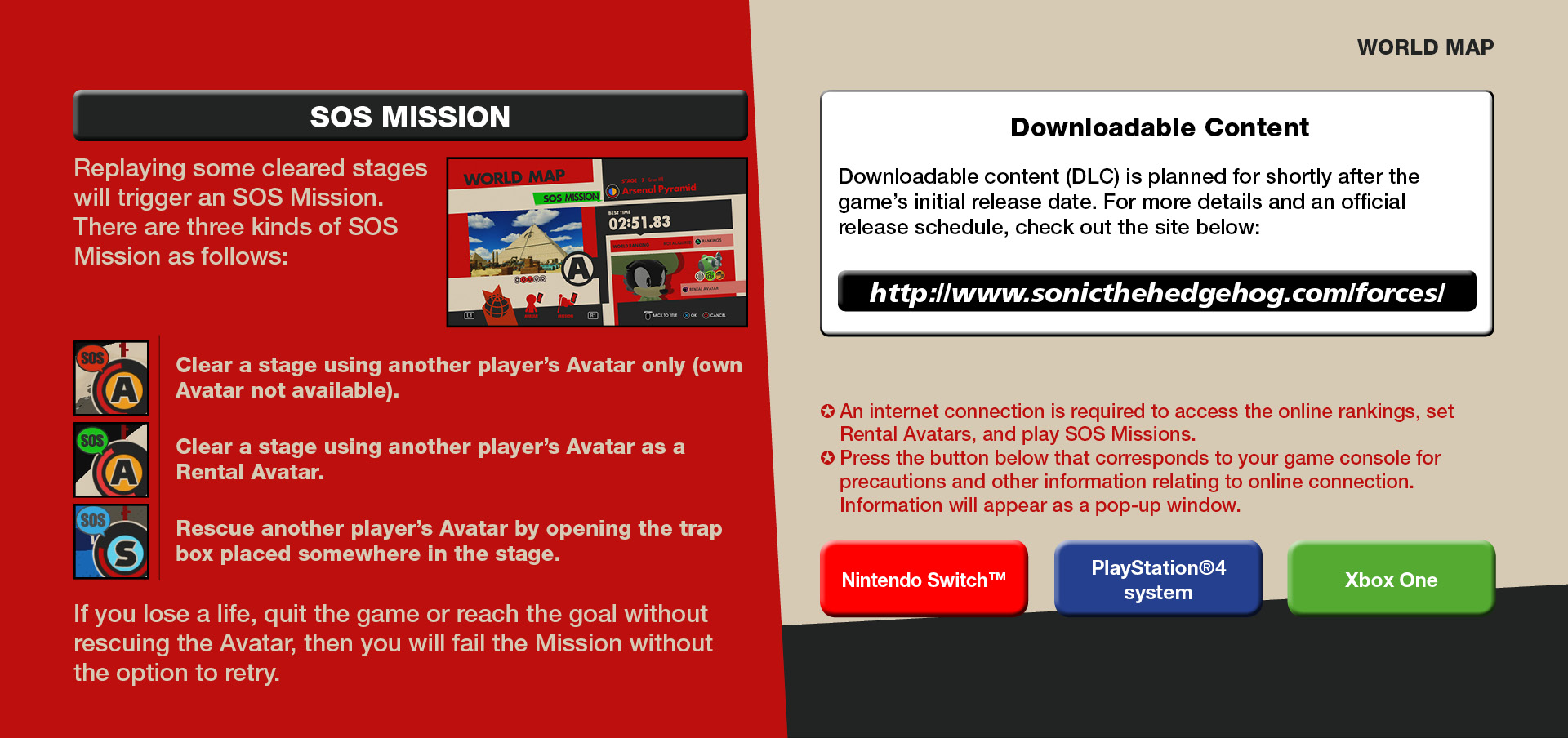 World Map Sonic Forces Web Manual