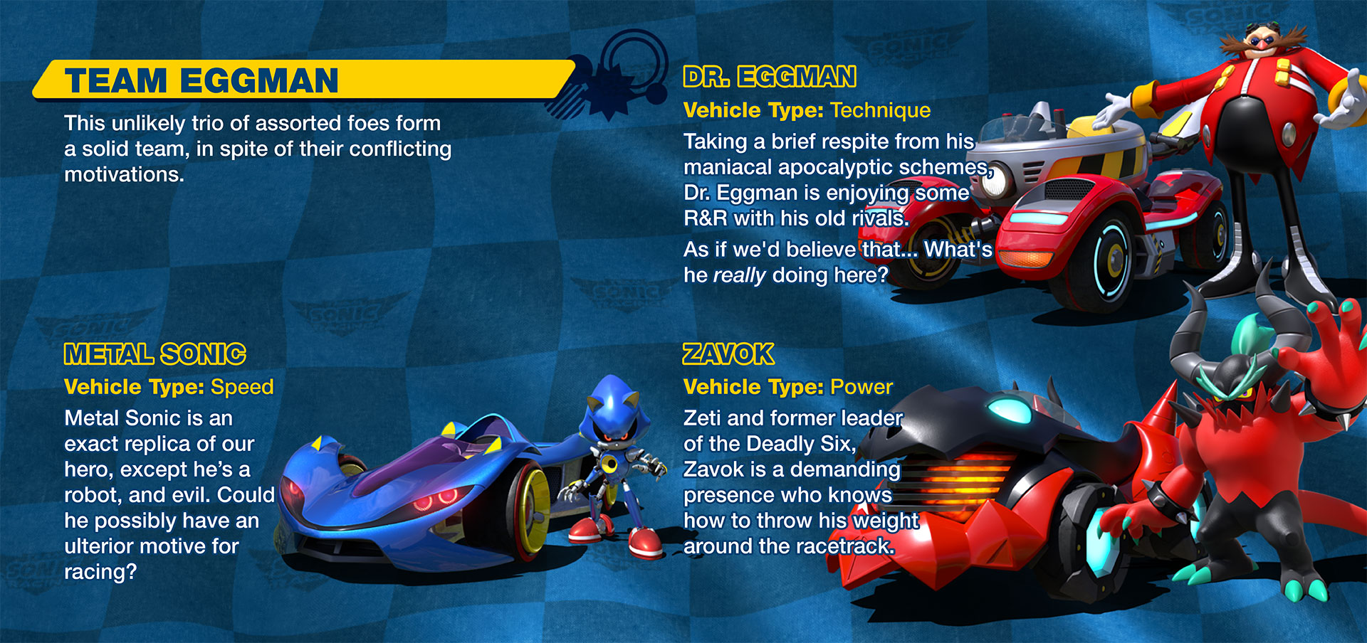 Team Sonic Racing: Instruction Manual - Upcoming Sonic Games